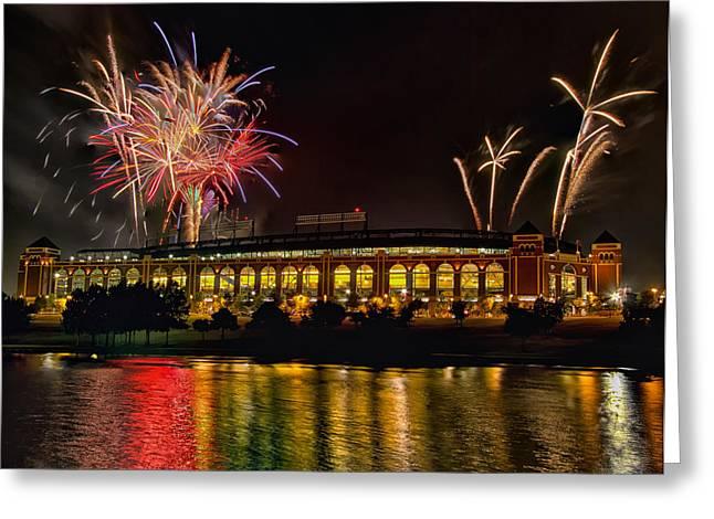 Ballpark Fireworks Greeting Card