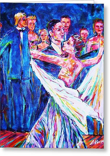 Ballroom Compitition Greeting Card by Linda Vaughon