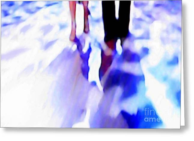 Ballroom Dance Floor Abstract 12 Greeting Card