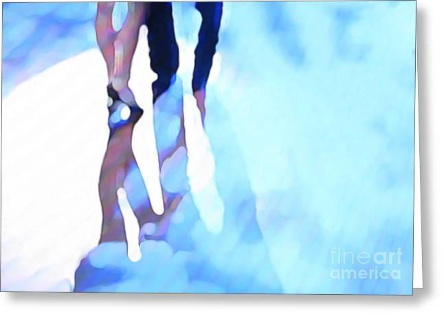 Ballroom Dance Floor Abstract 4 Greeting Card