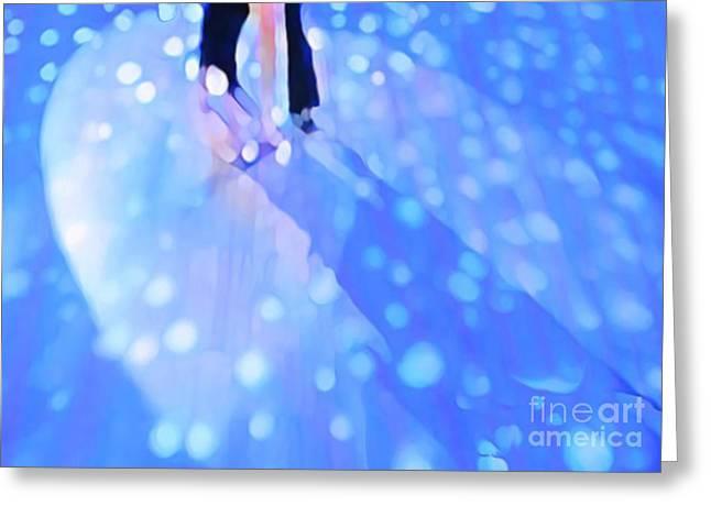 Ballroom Dance Floor Abstract 5 Greeting Card