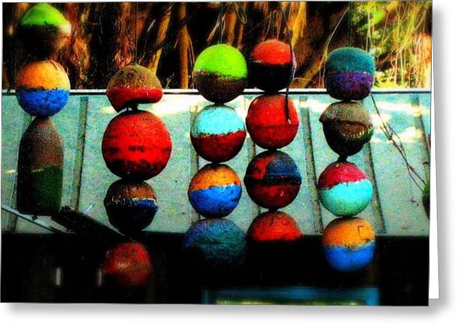 Balls From Heaven Greeting Card by Claudette Bujold-Poirier