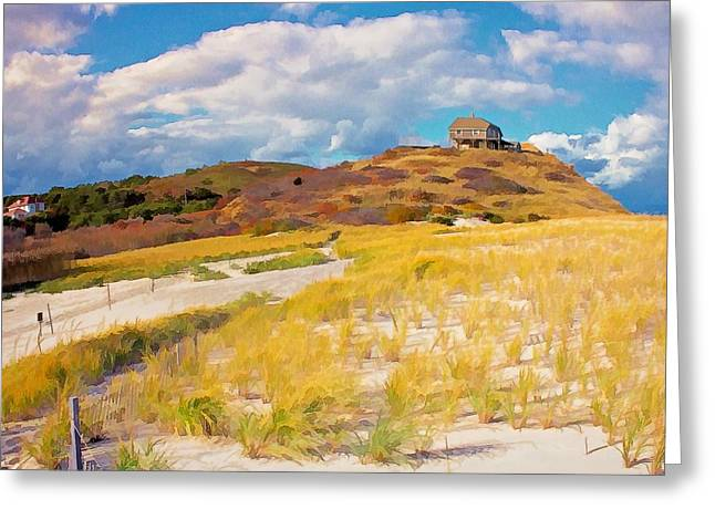 Greeting Card featuring the photograph Ballston Beach Dunes Photo Art by Constantine Gregory