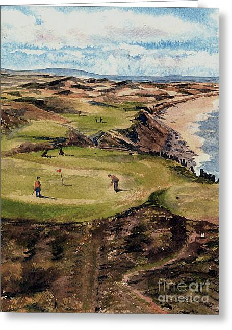 Kerry  Ballybunion G C Greeting Card by Val Byrne