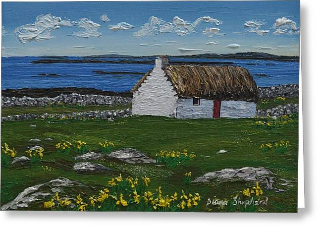 Ballyconneelly Cottage Connemara Ireland Greeting Card
