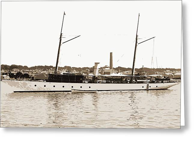 Ballymena, Ballymena Steam Yacht, Steam Yachts Greeting Card