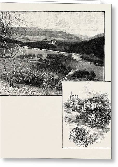 Balmoral And Balmoral Castle Greeting Card by Scottish School