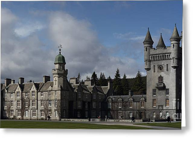 Balmoral Castle In A Closeup Panorama Greeting Card
