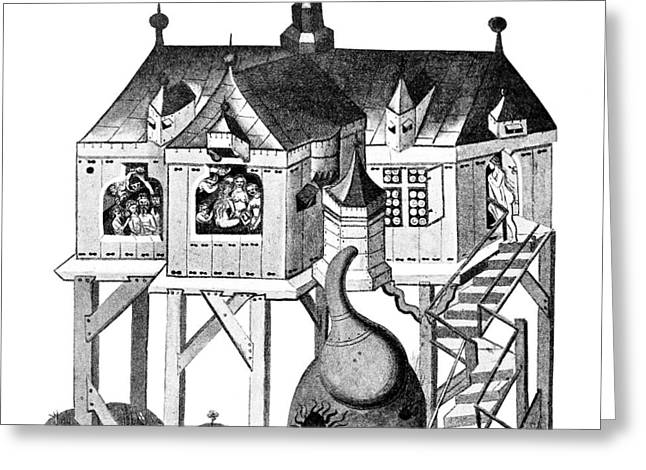 Balneology, German Bath House, 1405 Greeting Card by Wellcome Images