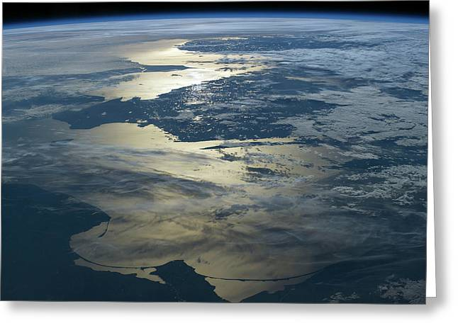 Baltic Sea Seen From The Iss Greeting Card