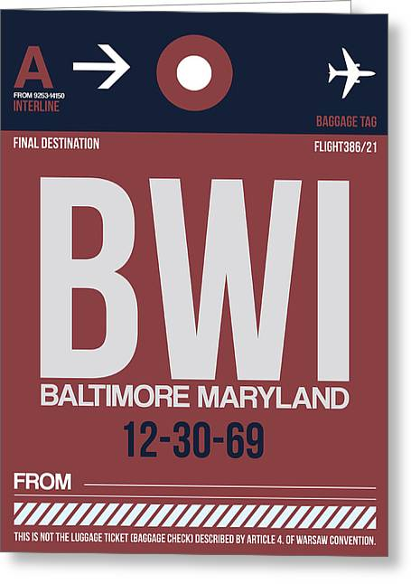 Baltimore Airport Poster 2 Greeting Card by Naxart Studio