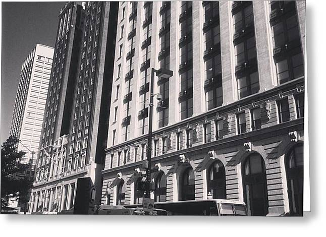 Greeting Card featuring the photograph Baltimore And Charles by Toni Martsoukos