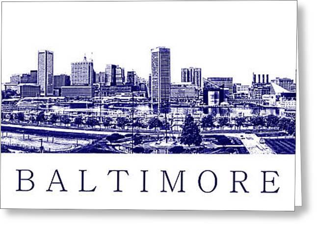 Baltimore Blueprint Greeting Card