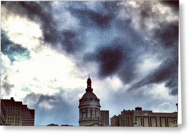 Baltimore City Hall Greeting Card by Toni Martsoukos