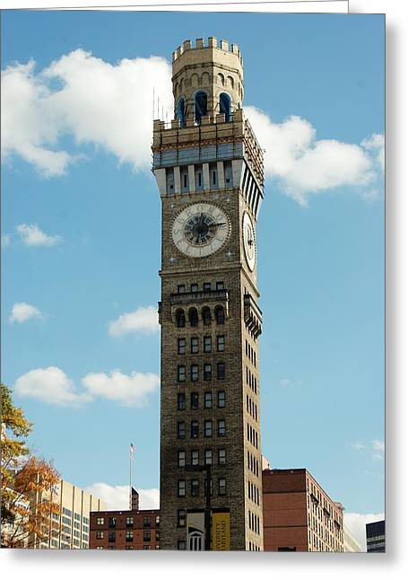 Seltzer greeting cards page 5 of 5 fine art america baltimore clock tower greeting card m4hsunfo