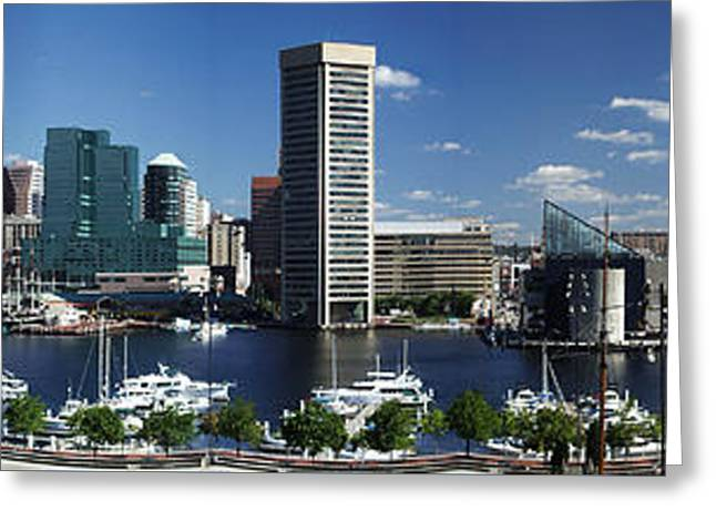 Baltimore Inner Harbor Panorama Greeting Card