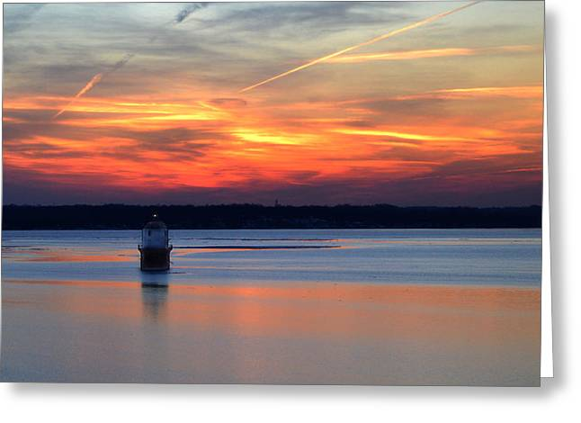 Greeting Card featuring the photograph Baltimore Light At Gibson Island by Bill Swartwout