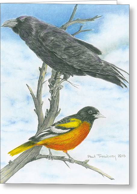 Baltimore Greeting Card by Paul Treadway