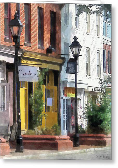 Baltimore - Quaint Fells Point Street Greeting Card
