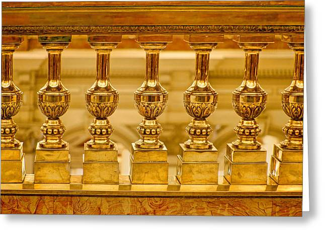 Baluster In Brass Greeting Card by Nikolyn McDonald
