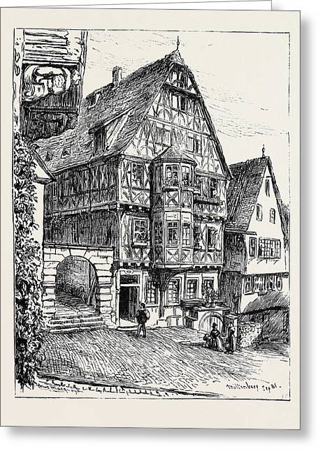 Bamberg And The Valley Of The Main Miltenberg Greeting Card by German School