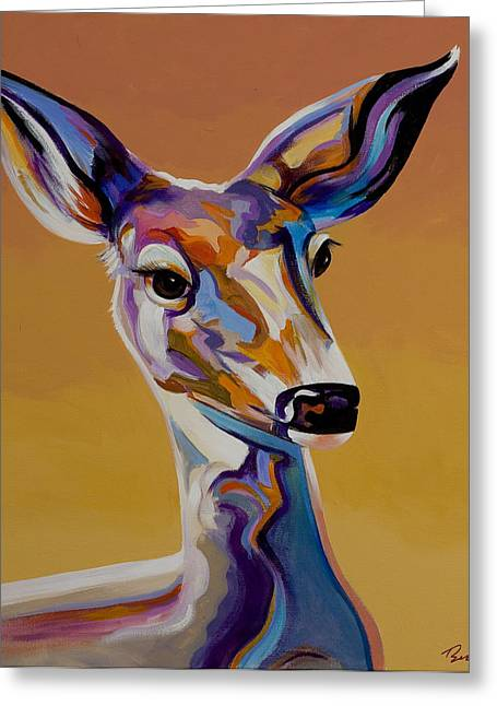 Greeting Card featuring the painting Bambi by Bob Coonts
