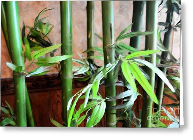Greeting Card featuring the photograph Plant -  Bamboo  -  Luther Fine Art by Luther Fine Art