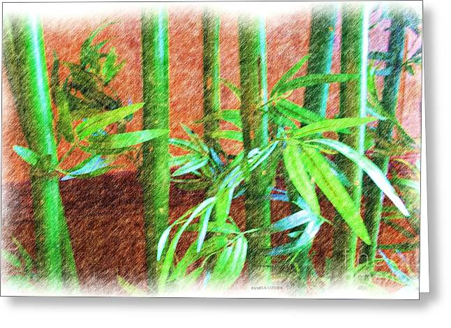 Bamboo #1 Greeting Card by Luther Fine Art