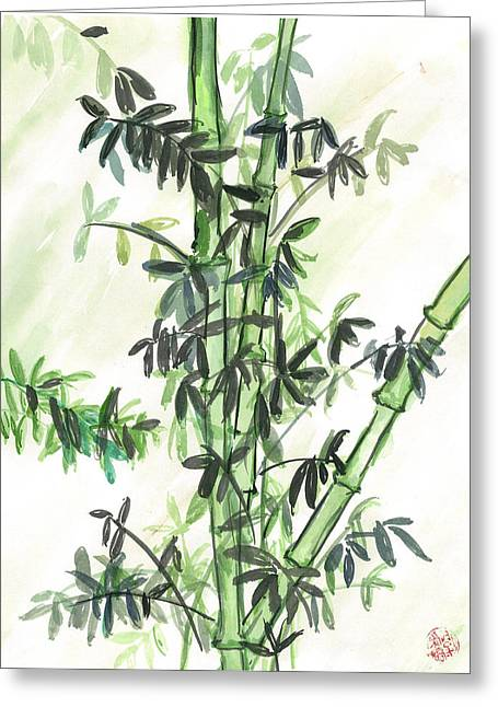 Bamboo Greeting Card by Amberlyn How
