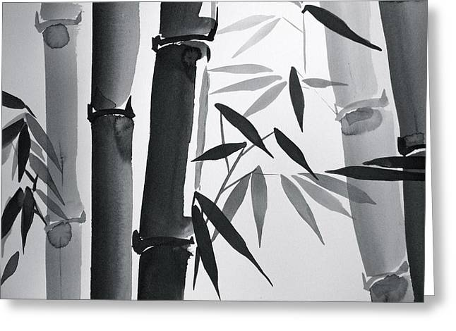 Bamboo And Light Greeting Card