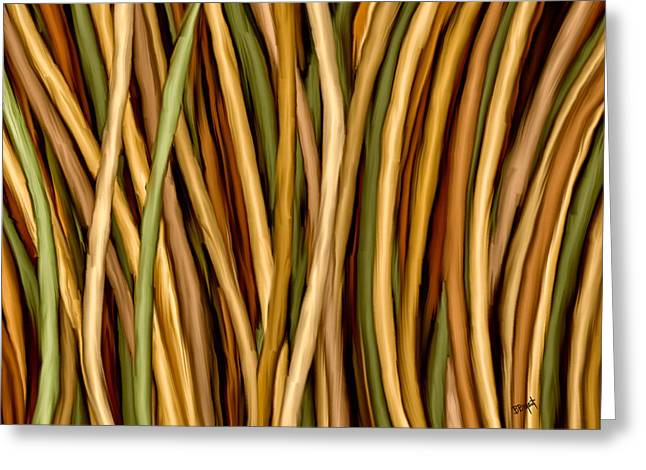 Bamboo Canes Greeting Card