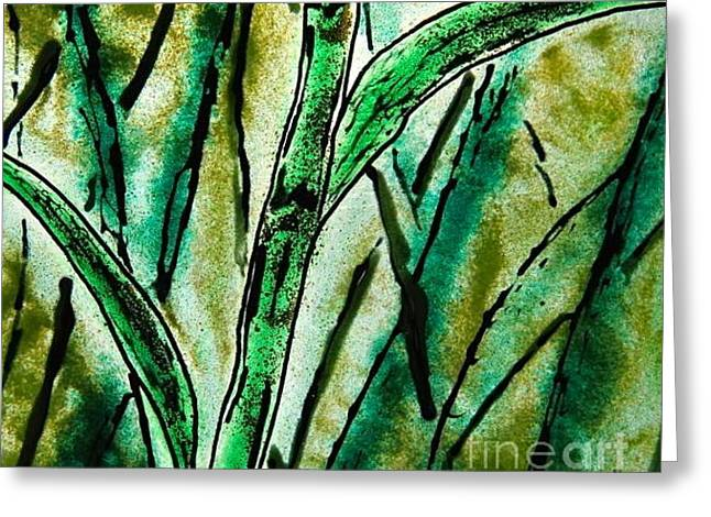 Bamboo Greeting Card by Gaby Tench