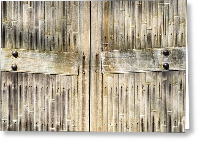 Bamboo Gates Greeting Card by Alexander Senin