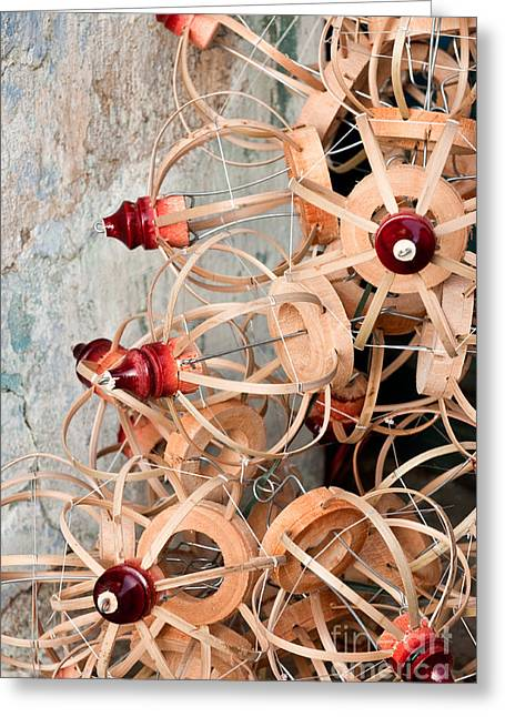 Bamboo Lantern Frames 01 Greeting Card by Rick Piper Photography
