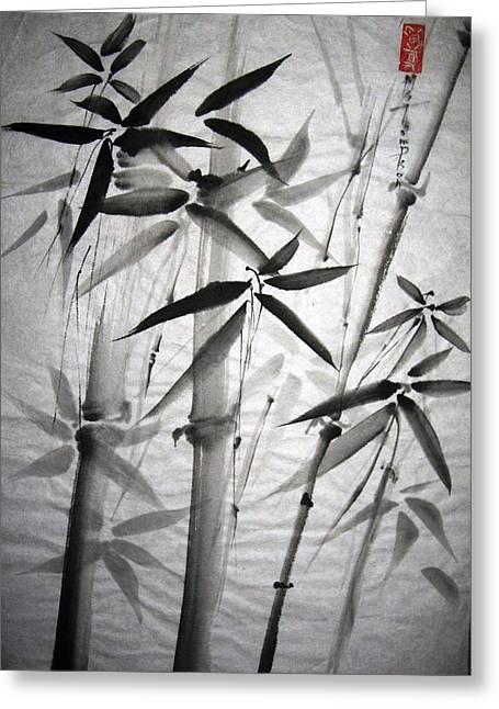 Bamboo Greeting Card by Mary Spyridon Thompson