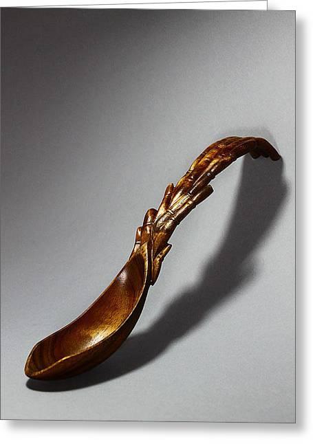 Bamboo Spoon 1 Greeting Card by Abram Barrett