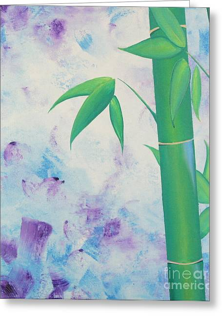 Bamboo Tryptych 1 Greeting Card