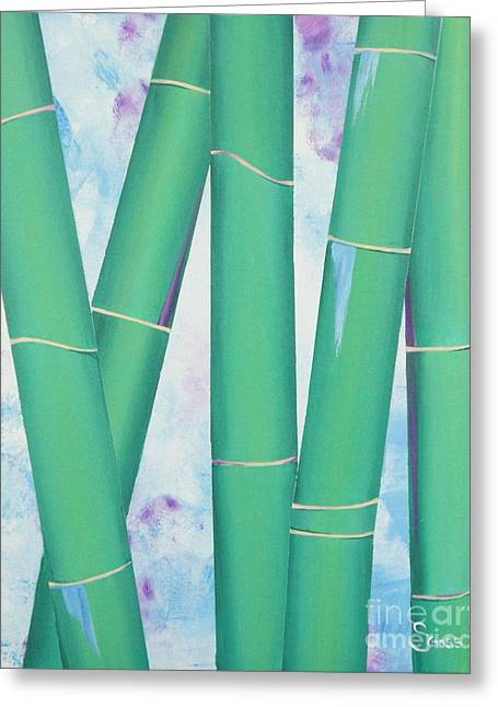 Bamboo Tryptych 3 Greeting Card