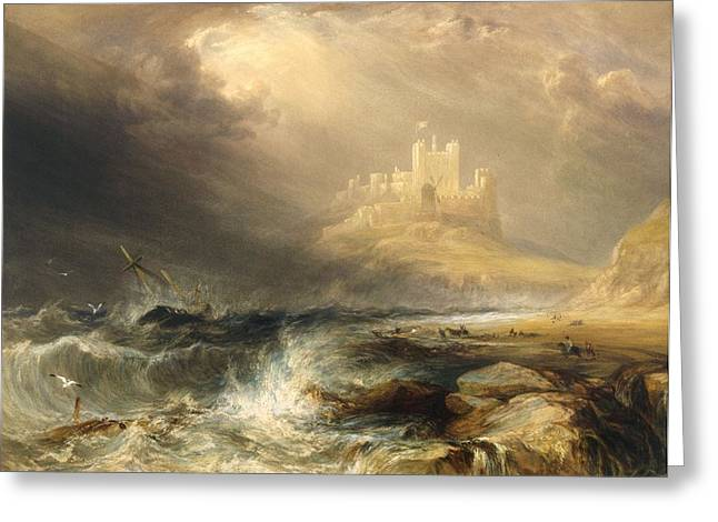 Bamborough Castle Greeting Card by William Andrews Nesfield