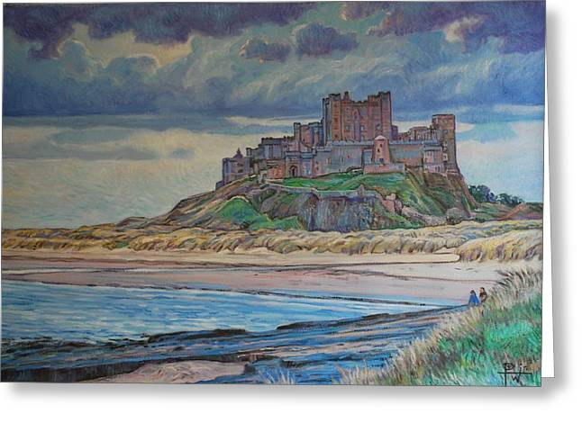 Bamburgh  Greeting Card by Henry Potwin