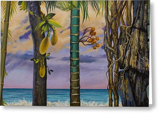Banana Country Greeting Card by Vrindavan Das