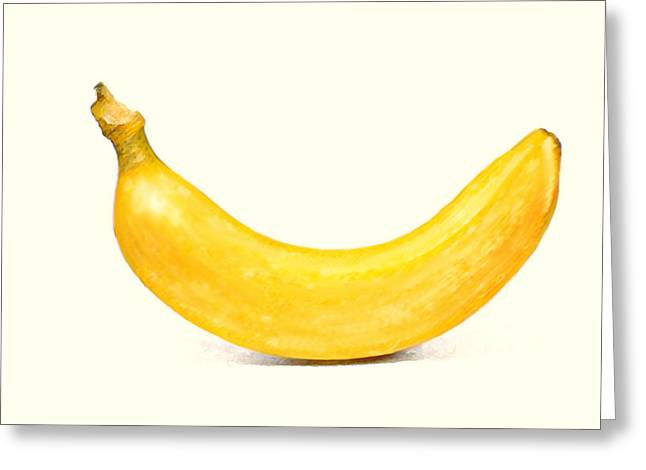 Greeting Card featuring the digital art Banana by David Blank