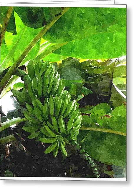 Banana Trees Greeting Card by Lanjee Chee