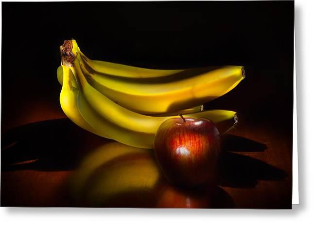 Bananas And Apple Still Life Greeting Card