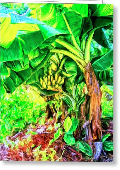 Bananas In Lahaina Maui Greeting Card