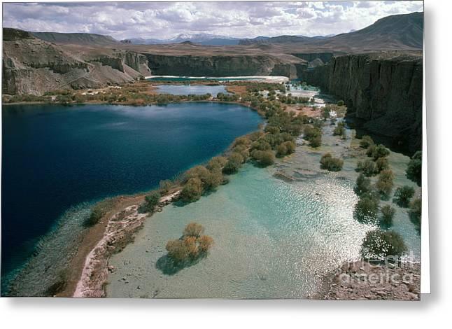 Band-i-amir Lakes, Afghanistan Greeting Card by Daniele Pellegrini