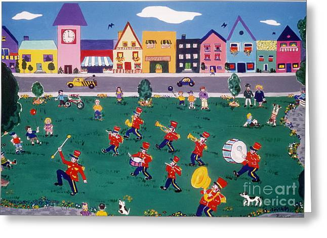 Greeting Card featuring the painting Band Practice by Joyce Gebauer