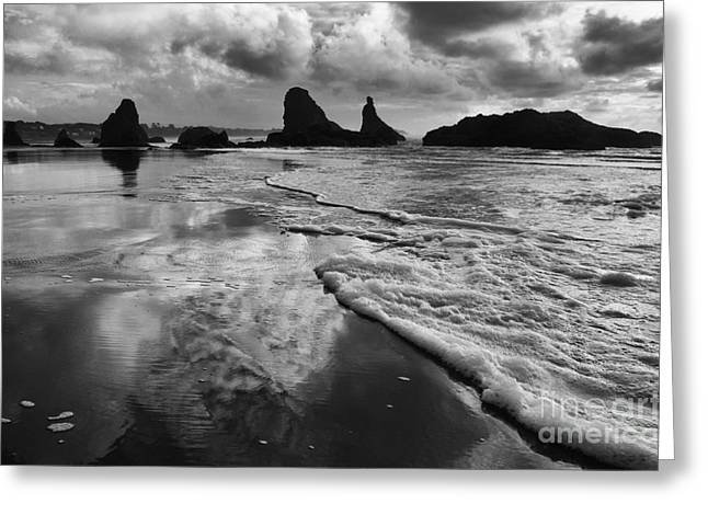 Bandon By The Sea High Tide Greeting Card by Bob Christopher