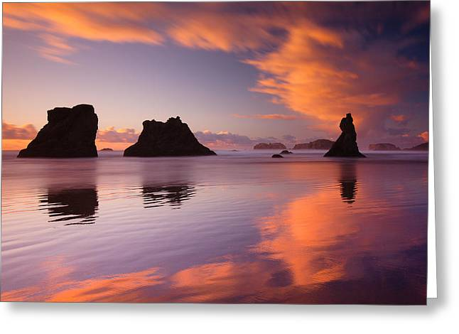 Bands Of Bandon Greeting Card by Darren  White