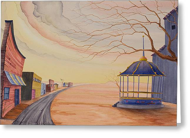 Greeting Card featuring the painting Bandstand by Scott Kirby